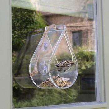 dew drop wild bird window feeder